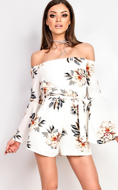 View the Sellis Off Shoulder Playsuit online at iKrush
