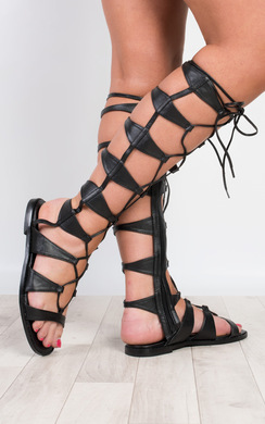 View the Megara Lace Up Sandals online at iKrush