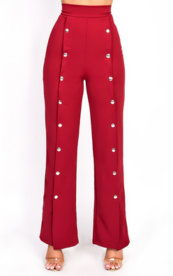 View the Leena Popper Slim Leg Trousers online at iKrush