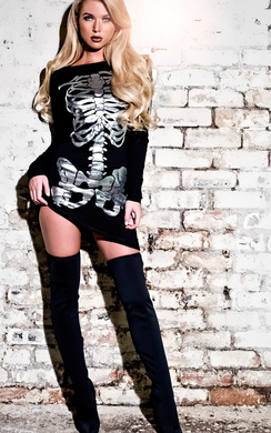 View the Skeleton Metalic Fancy Dress  online at iKrush