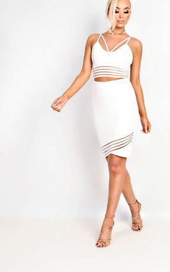 View the Jasmina Mesh Stripe Co-ord online at iKrush