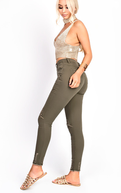 View the Ellah Skinny Ripped Jeans online at iKrush