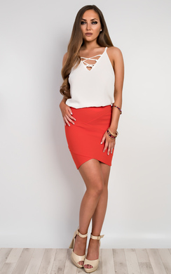 View the Norelle Fitted Mini Skirt online at iKrush