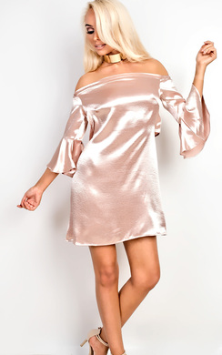 View the Wendi Off Shoulder Shift Dress online at iKrush