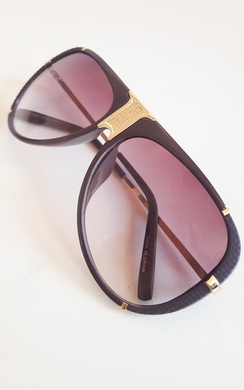View the Lorita Gold Bar Brown Sunglasses online at iKrush