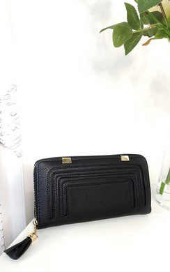 View the Carly Faux Leather Style Zip Purse online at iKrush