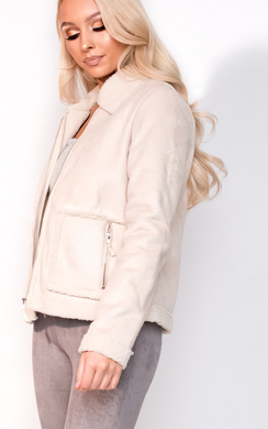 View the Jess Faux Fur Shearling Jacket online at iKrush