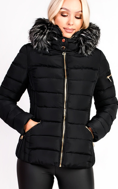View the Harriet Padded Faux Fur Hooded Jacket online at iKrush