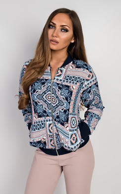 View the Cerys Aztec Bomber Jacket online at iKrush
