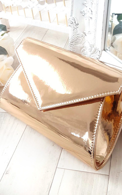 View the Mia Metallic Envelope Clutch Bag online at iKrush