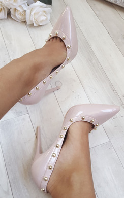 View the Lala Studded Court Heels online at iKrush
