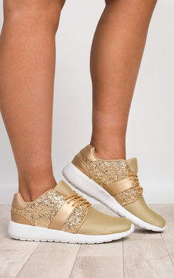 View the Kimika Glitter Trainers  online at iKrush