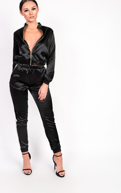 View the Kourtney Satin Stripe Tracksuit online at iKrush