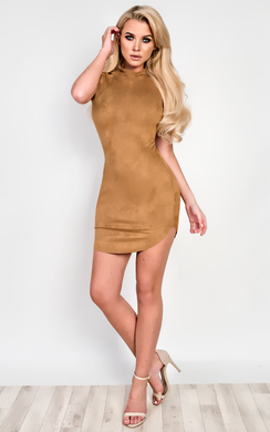 View the Martha Suede Bodycon Dress  online at iKrush