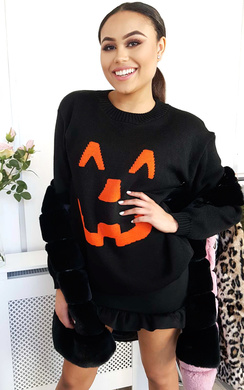 View the Pumpkin Knitted Halloween Jumper online at iKrush
