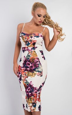 View the Blaise Floral Midi Dress online at iKrush