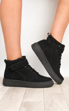 View the Alayah Faux Suede Hi-Top  Platform Shoes  online at iKrush
