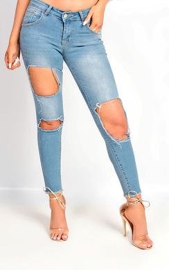 View the Luma Skinny Ripped Jeans online at iKrush