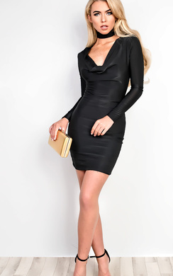 View the Libby Slinky Choker Neck  Bodycon Dress online at iKrush