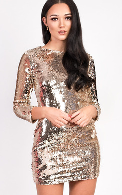 View the Francesca Long Sleeved Sequin Dress online at iKrush