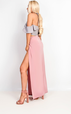 View the Lovato Double Thigh High Split Maxi Skirt online at iKrush