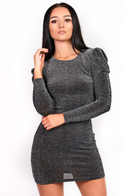 View the Martina Glitter Bodycon Dress online at iKrush