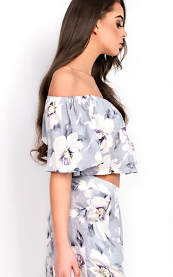 View the Amra Off Shoulder Floral Co-Ord online at iKrush