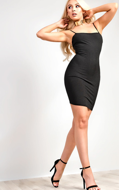 View the Aby Ribbed Mini Dress online at iKrush
