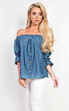 View the Denna Denim Shift Top online at iKrush