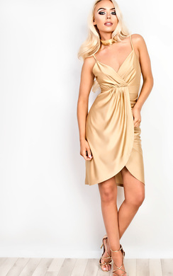 View the Ariane Gathered Bodycon Dress  online at iKrush