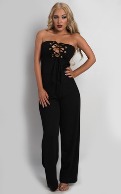 View the Laniyah Lace Up Jumpsuit online at iKrush