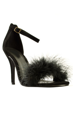 View the Luna Feather Party High Heels online at iKrush