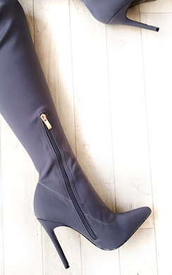 View the Zara Stretch Thigh High Boots  online at iKrush