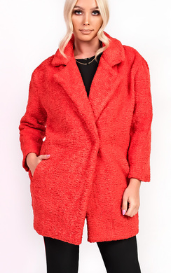 View the Kayli Boucle Collar Button Coat online at iKrush