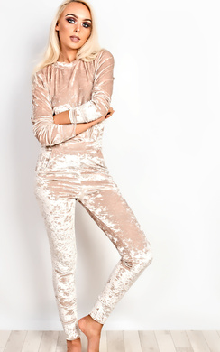 View the Amelia Crushed Velvet Lush Jogger Set  online at iKrush
