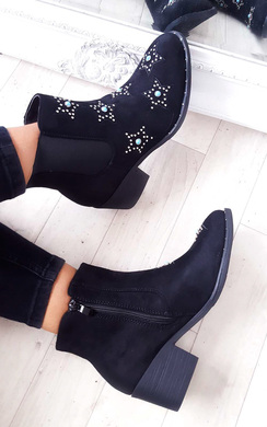 View the Morgan Stone Embellished Chelsea Boot online at iKrush