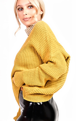 View the Kim Knitted Knot Cropped Jumper online at iKrush
