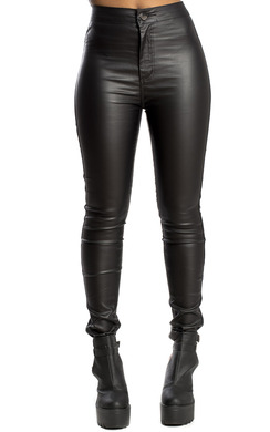 Dya Faux Leather Skinny Trousers