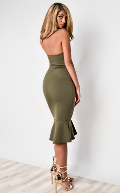 View the Brianna Frill Midi Dress  online at iKrush