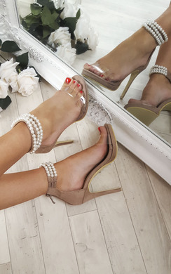View the Jasmine Pearl Ankle Barely There Heels online at iKrush