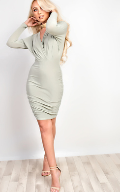 View the Kai Long Sleeved Bodycon Dress online at iKrush