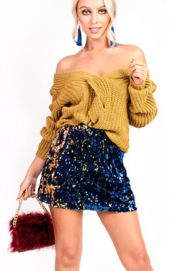 View the Manuella Reversible Sequin Skirt online at iKrush
