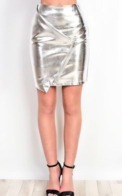 View the Aidrianna Metallic Skirt  online at iKrush