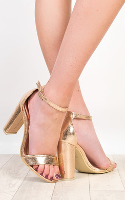 View the Katherine Foiled High Heels  online at iKrush
