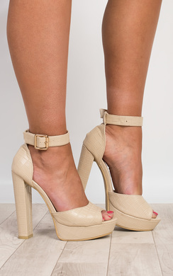 View the Viven Platform Block Heels online at iKrush