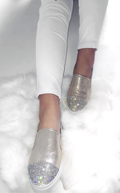 View the Ashleigh Metalic Diamante Pumps online at iKrush