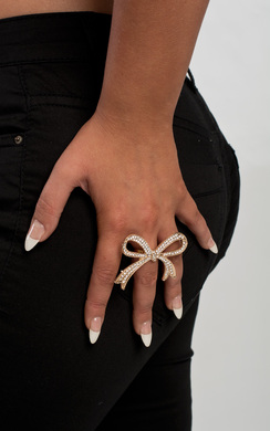 View the Savannah Bow Diamante Ring online at iKrush