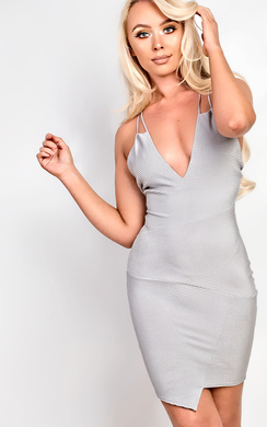 View the Malik Ribbed Mini Dress online at iKrush