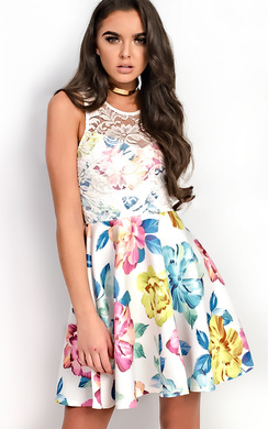 View the Pacha Floral Lace Skater Dress online at iKrush