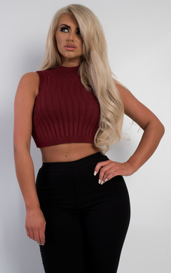 View the Hali Ribbed Polo Crop Top online at iKrush